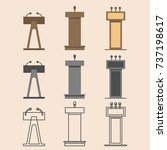 flat vector design in icon set... | Shutterstock .eps vector #737198617
