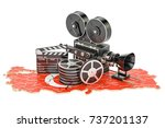 turkish cinematography  film... | Shutterstock . vector #737201137
