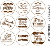 thanksgiving day. typography... | Shutterstock .eps vector #737211037