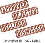 approved  rejected  declined ... | Shutterstock .eps vector #737212093