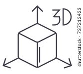 3d cube  icon  vector... | Shutterstock .eps vector #737212423