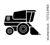 combine harvester  icon  vector