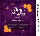 day of the dead purple... | Shutterstock .eps vector #737222143