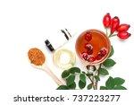 medicinal plants and herbs...   Shutterstock . vector #737223277