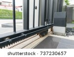 automatic doors and motor home... | Shutterstock . vector #737230657