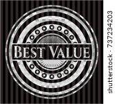 best value silvery badge | Shutterstock .eps vector #737234203