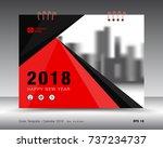 cover calendar 2018 template ... | Shutterstock .eps vector #737234737