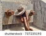 Old Rusty Mooring Chain In A...