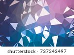 abstract low poly background ... | Shutterstock . vector #737243497