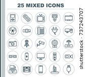 hardware icons set. collection... | Shutterstock .eps vector #737243707