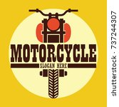 motorcycle logo  emblems and...   Shutterstock .eps vector #737244307