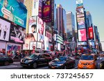 new york  usa   sep 08  2017 ... | Shutterstock . vector #737245657