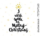 vector christmas card. i with... | Shutterstock .eps vector #737247163