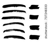 set of hand painted brush... | Shutterstock .eps vector #737248333
