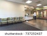 blurred image lobby front desk...   Shutterstock . vector #737252437