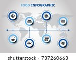 infographic design with food... | Shutterstock .eps vector #737260663