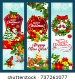 christmas and new year holidays ... | Shutterstock .eps vector #737261077