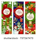 christmas holiday celebration...   Shutterstock .eps vector #737267473