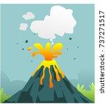 volcanic eruption vector | Shutterstock .eps vector #737271517