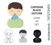 running nose icon cartoon....   Shutterstock .eps vector #737272453