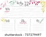 hand drawn weekly list... | Shutterstock .eps vector #737279497