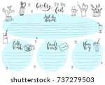 hand drawn weekly list... | Shutterstock .eps vector #737279503