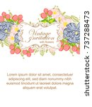 romantic invitation. wedding ... | Shutterstock .eps vector #737288473