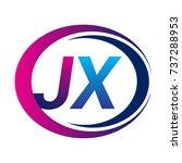 initial letter logo jx company...   Shutterstock .eps vector #737288953