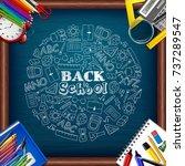 vector illustration of back to... | Shutterstock .eps vector #737289547