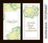romantic invitation. wedding ...   Shutterstock . vector #737290687