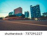 urban traffic in downtown hong... | Shutterstock . vector #737291227