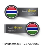 flag icon and label with text... | Shutterstock .eps vector #737306053