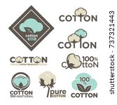 cotton labels or logo for pure... | Shutterstock .eps vector #737321443