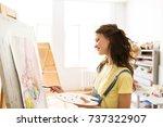 art school  creativity and... | Shutterstock . vector #737322907