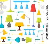 cartoon home illumination lamp...   Shutterstock .eps vector #737323507