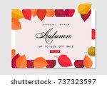 autumn sale background template.... | Shutterstock .eps vector #737323597