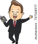 illustration of a preacher... | Shutterstock .eps vector #737328577