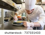 food cooking  profession and... | Shutterstock . vector #737331433