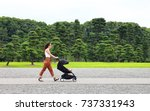a young mother enjoying the... | Shutterstock . vector #737331943