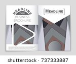 abstract vector layout... | Shutterstock .eps vector #737333887
