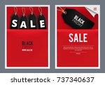 black friday poster  flyer set. ... | Shutterstock .eps vector #737340637