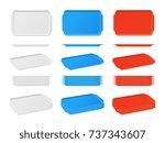 realistic plastic blank food...   Shutterstock .eps vector #737343607