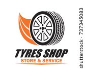 tyre   tire logo  emblems and... | Shutterstock .eps vector #737345083