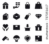 16 vector icon set   gift ... | Shutterstock .eps vector #737351617