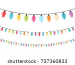 colorful christmas lights ... | Shutterstock .eps vector #737360833