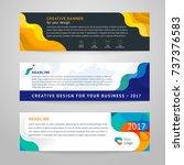 vector set of abstract design... | Shutterstock .eps vector #737376583