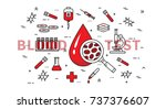 blood test vector illustration. ... | Shutterstock .eps vector #737376607