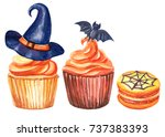 Halloween Cake  Macaroni  Bat ...