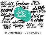 let's travel. ocean is calling. ... | Shutterstock .eps vector #737393977