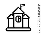 castle flat icon | Shutterstock .eps vector #737400253